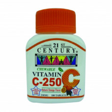 21ST CENTURY CHEWABLE VITAMIN C-250 100S