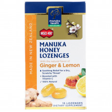 MANUKA HEALTH MGO 400 GINGER LEMON CANDY 15'S