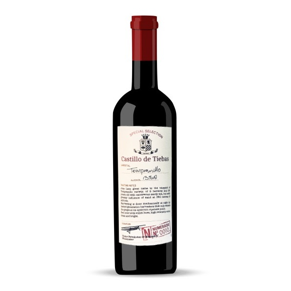 CASTILLO DE TIEBAS TEMPRANILLO 750ML
