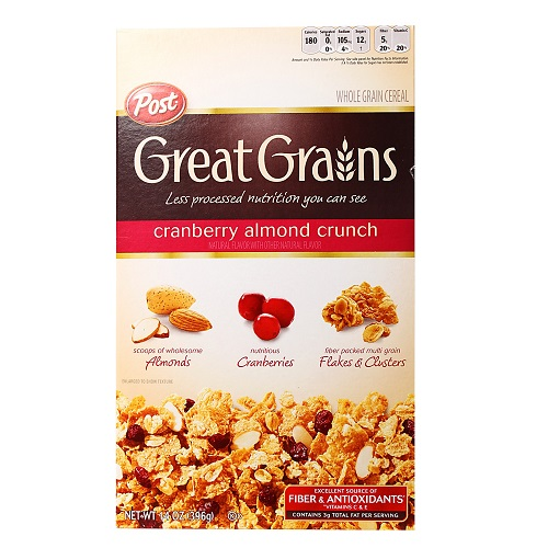 POST GREAT GRAINS CRANBERRY ALMOND CRUNCH 368G