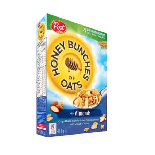 POST HONEY BUNCHES OF OATS CEREAL ALMONDS 411G