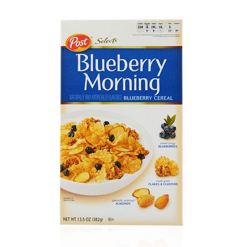 POST BLUEBERRY MORNING CEREAL 382G