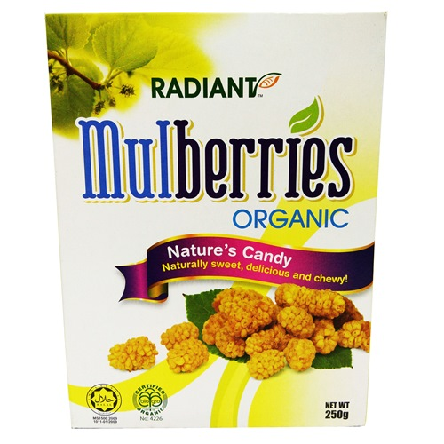 RADIANT ORGANIC MULBERRIES NATURE'S CANDY 有机桑椹