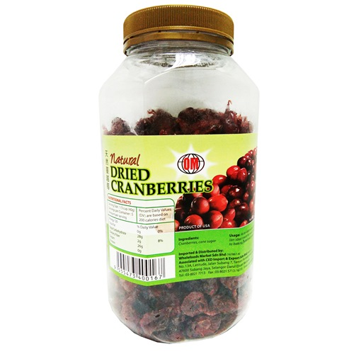 HEALTH PARADISE NATURAL DRIED CRANBERRIES 有机健康乐园天然蔓越莓干