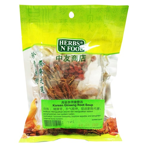 KOREA GINSENG ROOT SOUP 高丽参须健脾汤