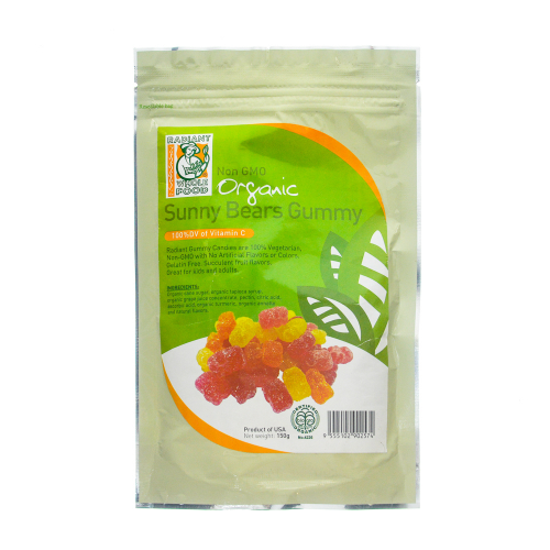 RADIANT ORGANIC SUNNY BEARS GUMMY 150GM
