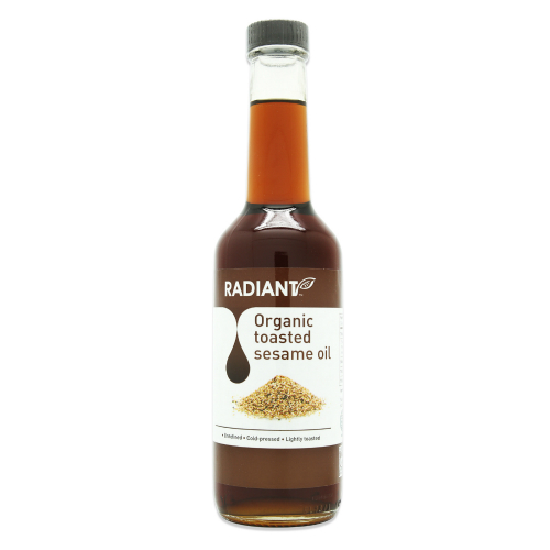 RADIANT ORGANIC TOASTED SESAME OIL 310ML