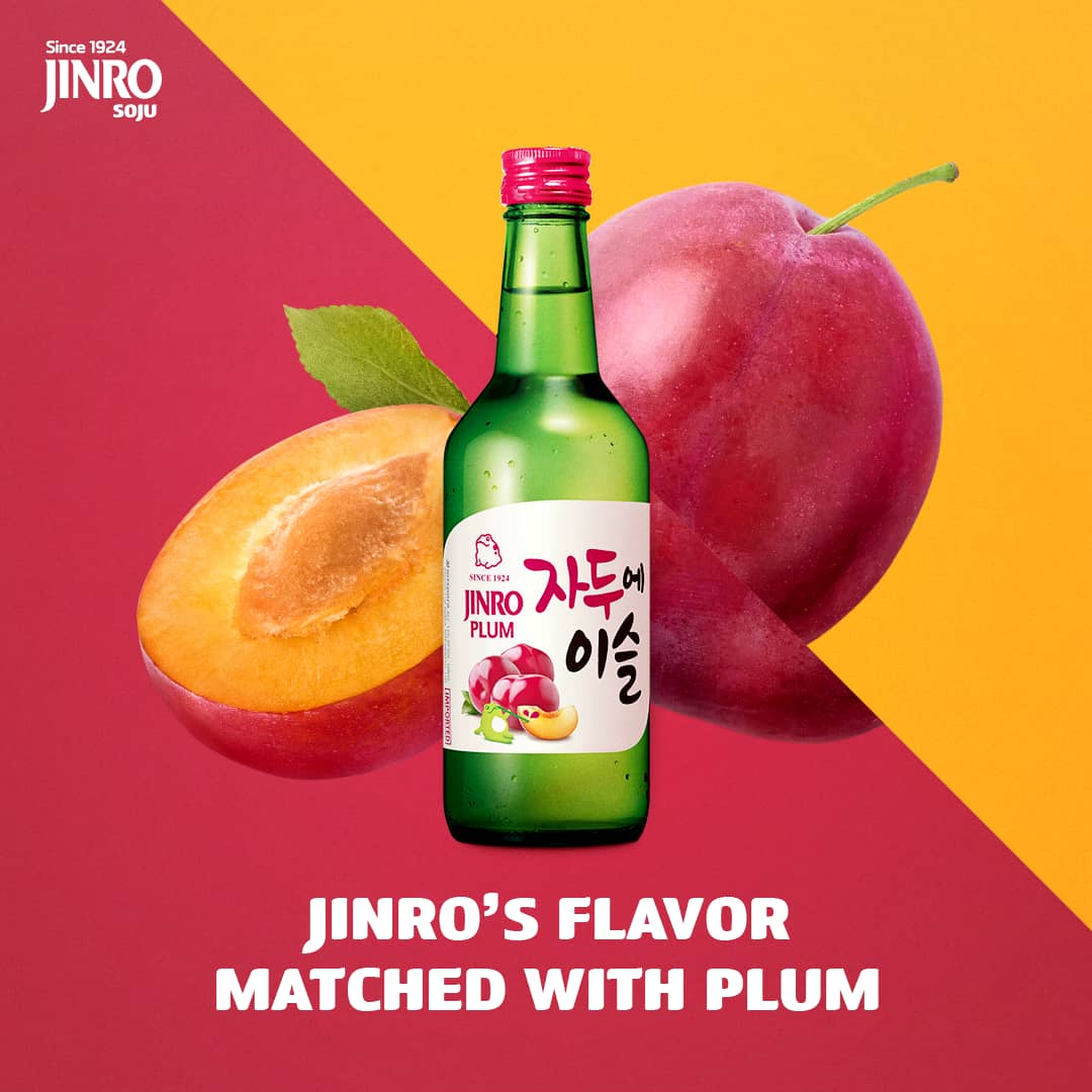 jinro plum soju 360ml