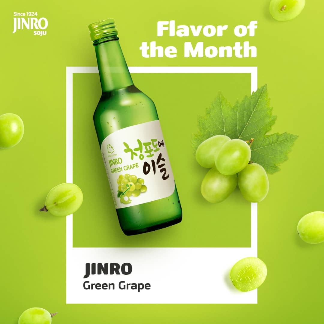 jinro green grape soju 360ml